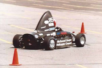 Photo of the car in competition