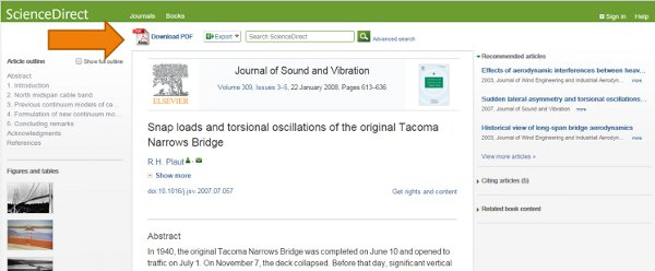 screenshot of a journal article landing page