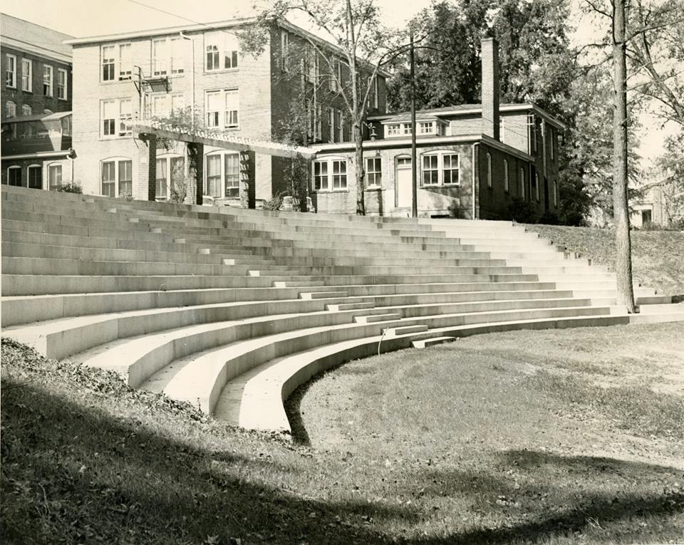 Archive shot of the Amphitheater