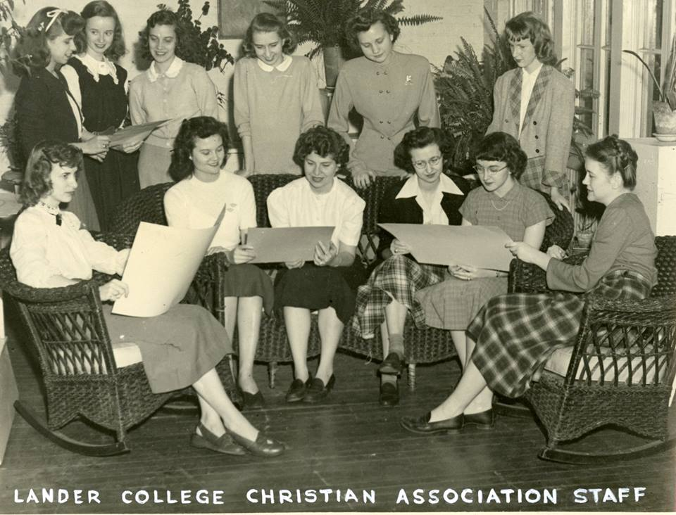 Archive shot of Lander College Christian Association Staff