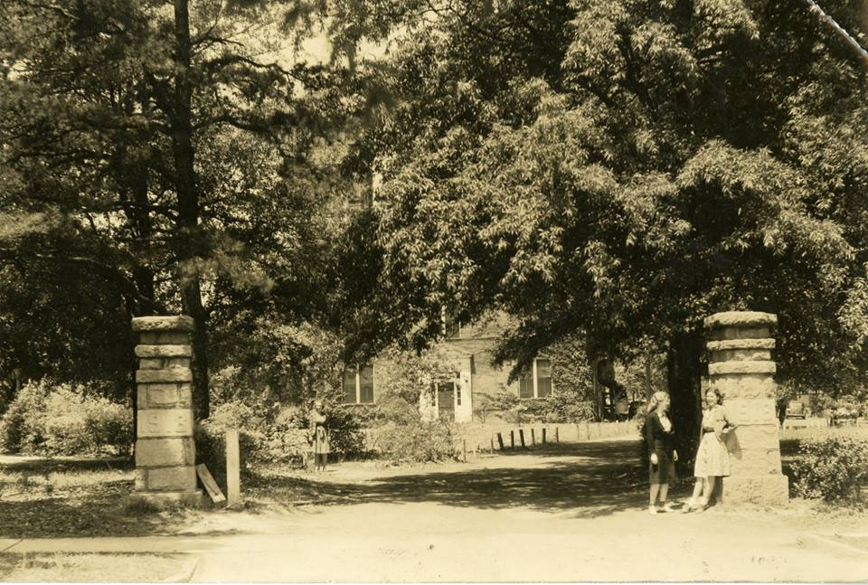 Archived shot of the entrance to the college