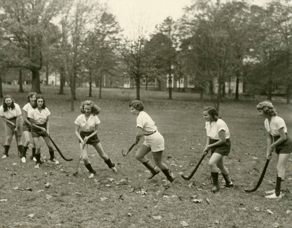 Archive shot of women field hockey players