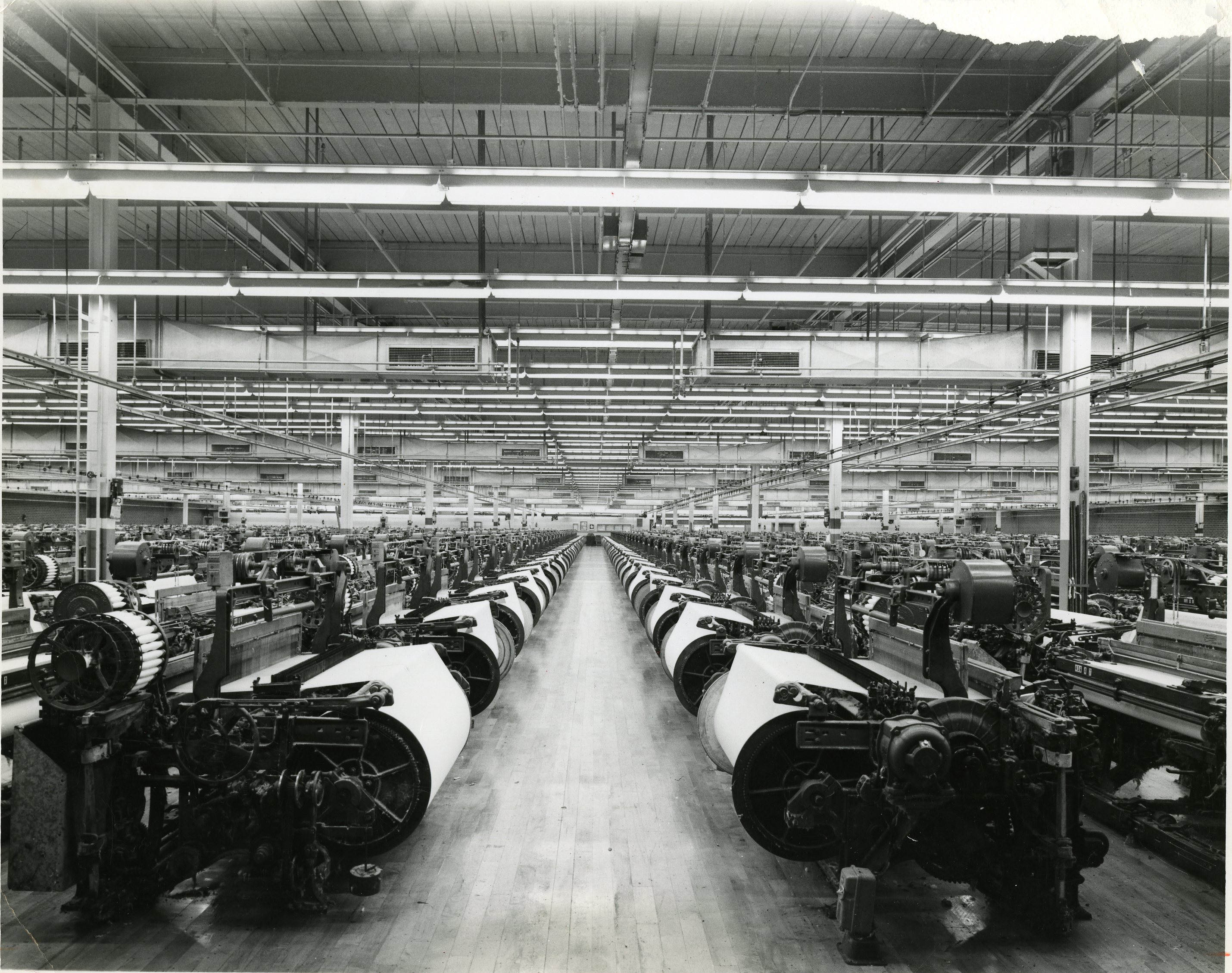 Greenwood Mills archive picture, interior