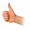 Photo of a hand giving a thumbs up sign