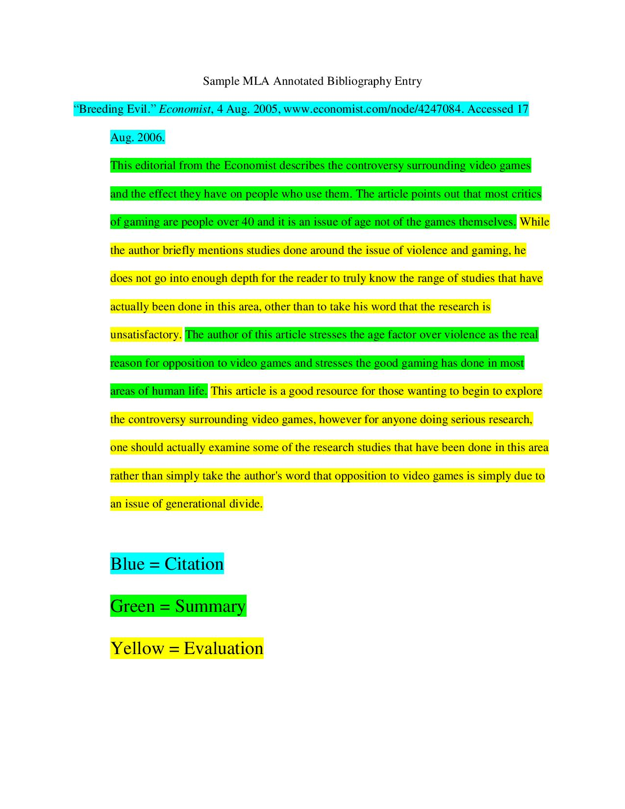 Chapter 1 Guidelines on How to Write a Bibliography in MLA Style