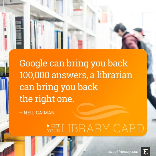 Library quote from Neil Gaiman.