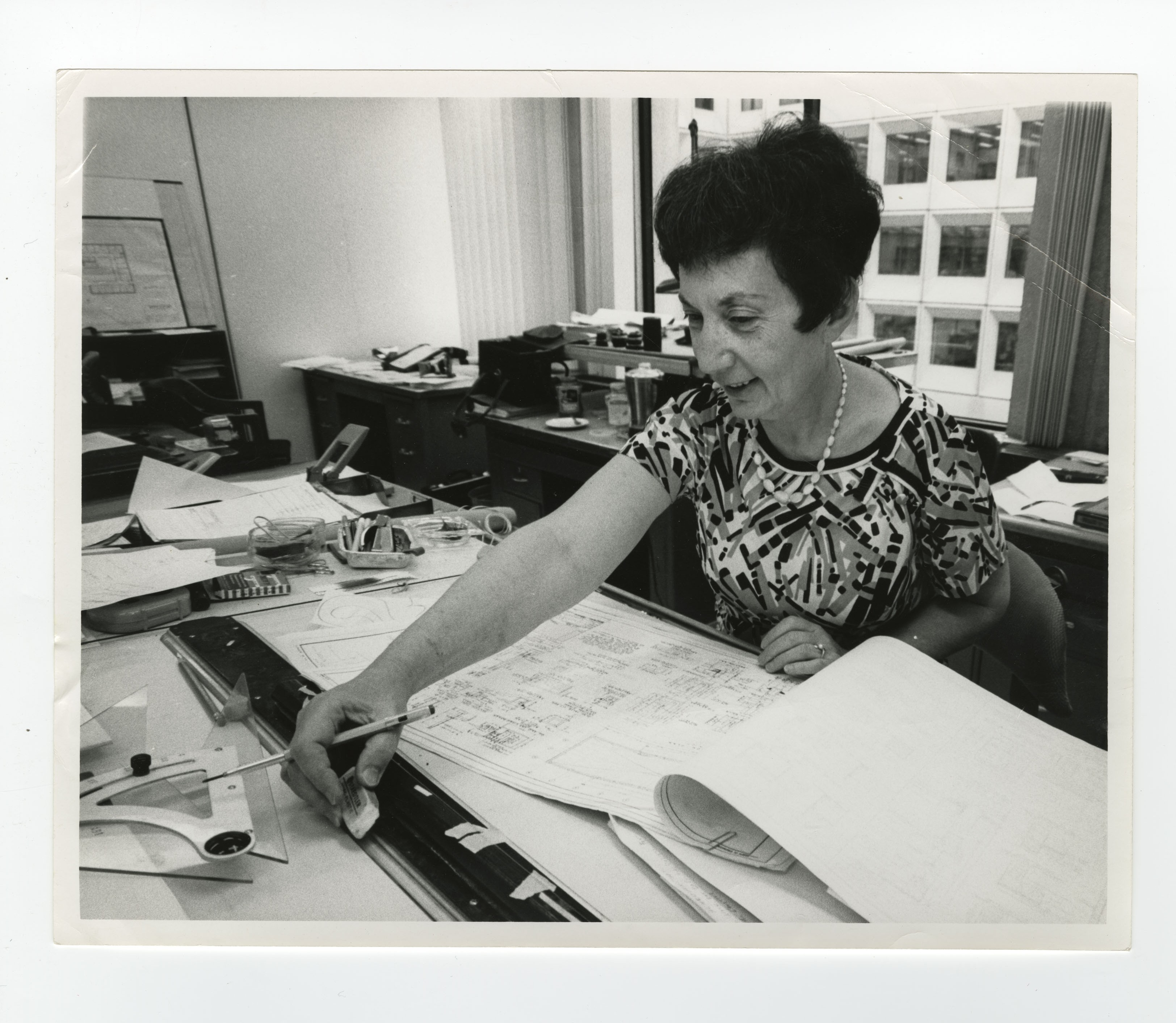 Black and white photograph of Washington DC architect Melita Rodeck