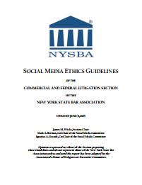 Social Media Ethics Guidelines - New York State Bar Association