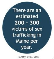 Each year 200 to 300 people are sex trafficked in Maine