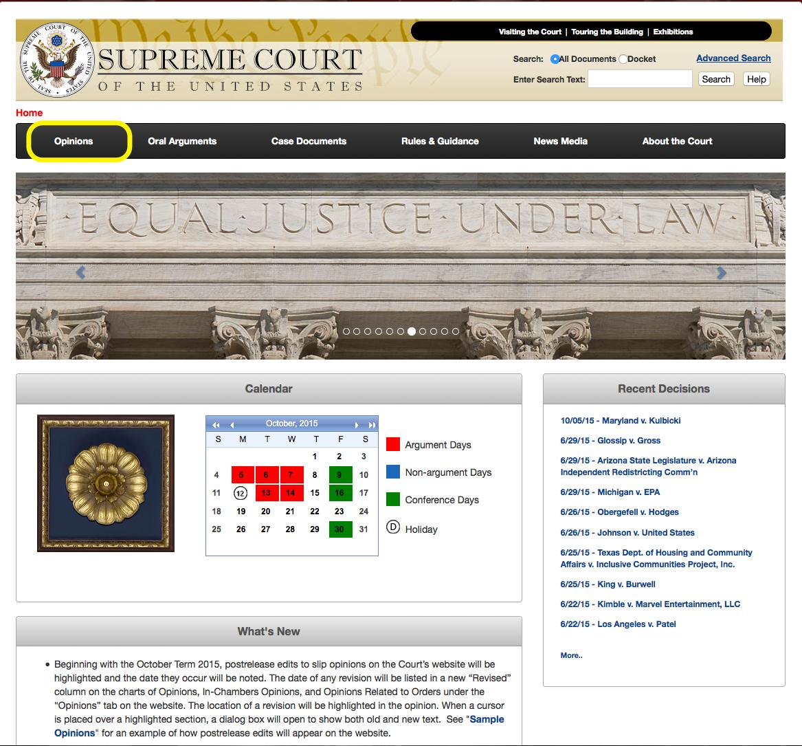 Supreme Court Home Page