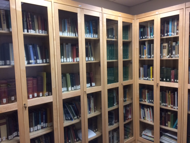 bookshelves in stimson collection
