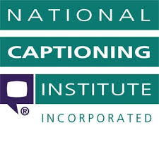 The image is a green, white and black National Captioning Institute logo from the National Center on Accessibility website.