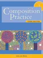 "Book cover of a book ""Composition Pracitice""."