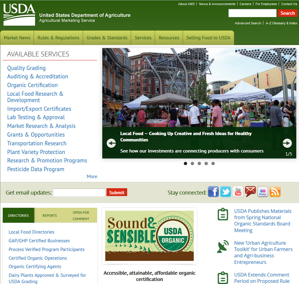 Agricultural marketing service government documents department ams web site 1betcityfo Gallery