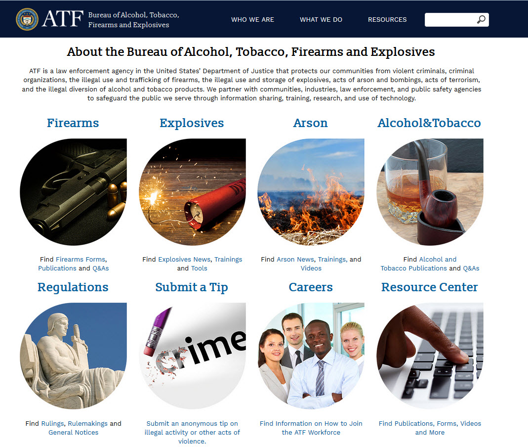 About the Bureau of Alcohol, Tobacco, Firearms and Explosives