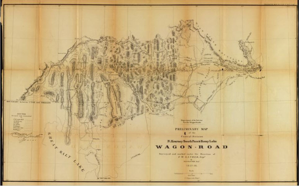 Maps of the Central and Western Divisions of the Fort Kearney, South Pass & Honey Lake wagon road