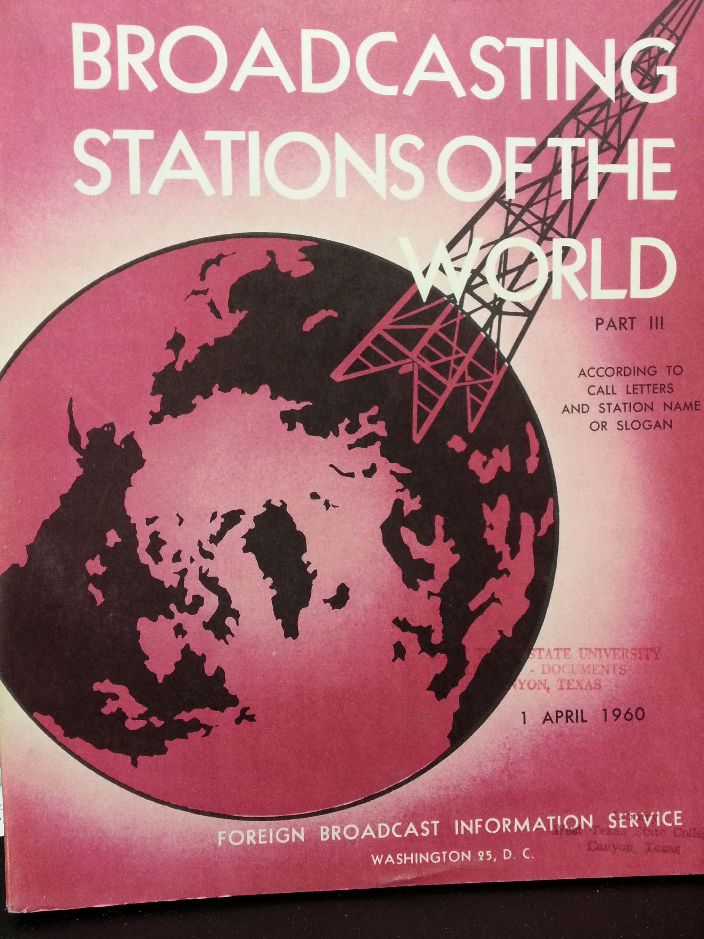 Broadcasting stations of the world, 1960