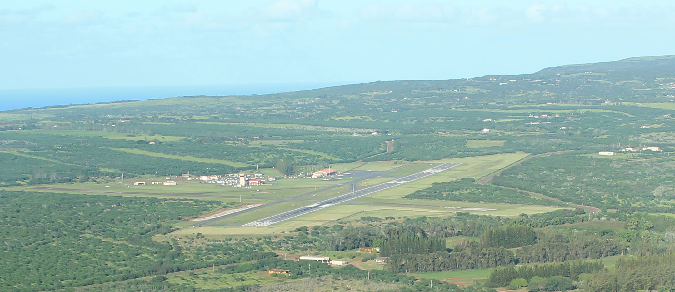 Aerial view of Ho`olehua Airport