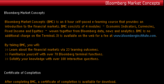 Bloomberg Market Concepts screenshot