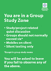 Green group study zone poster