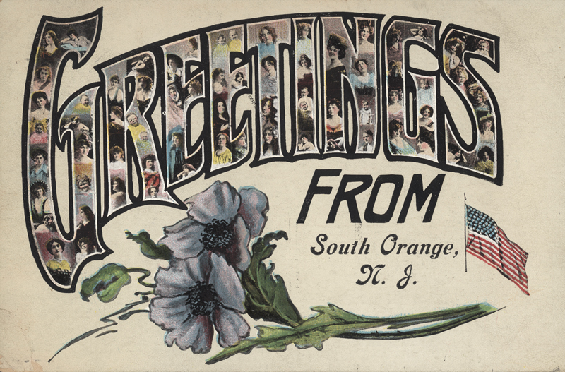 greetings from south orange postcard