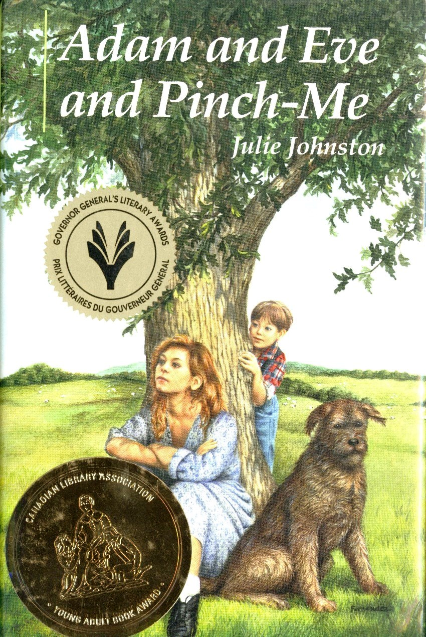 Julie Johnston Adam and Eve and Pinch-Me book cover
