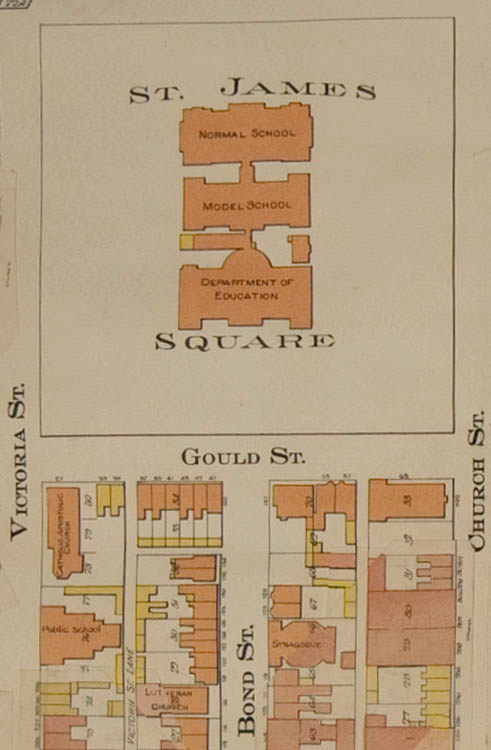 Detail from plate 13 (Ward 3) of Goad, Charles E. Atlas of the City of Toronto and Suburbs. 3rd ed. 1923