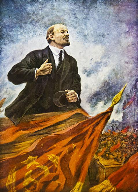 V. I. Lenin on a Podium. 2008.005.07.011. Leniniana Collection, Ryerson University Archives & Special Collections.