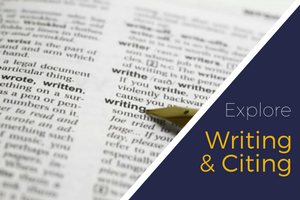 writing & citing FAQ - click for answers about all aspects of academic writing
