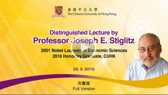 Image of the Distinguished Lecture by Prof. Joseph E. Stiglitz on 5th November 2016