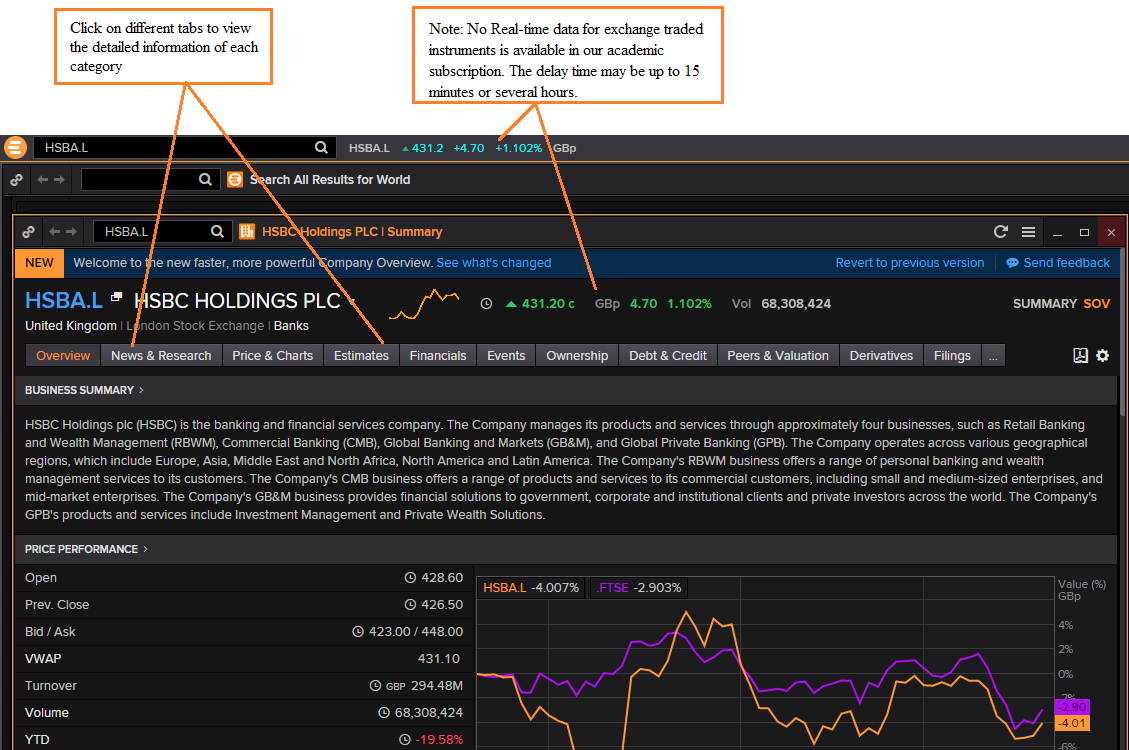 Thomson Reuters Search Results Screen