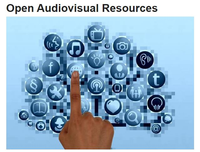 Image with link to UMass Amherst's Open Audio Visual Resources Page