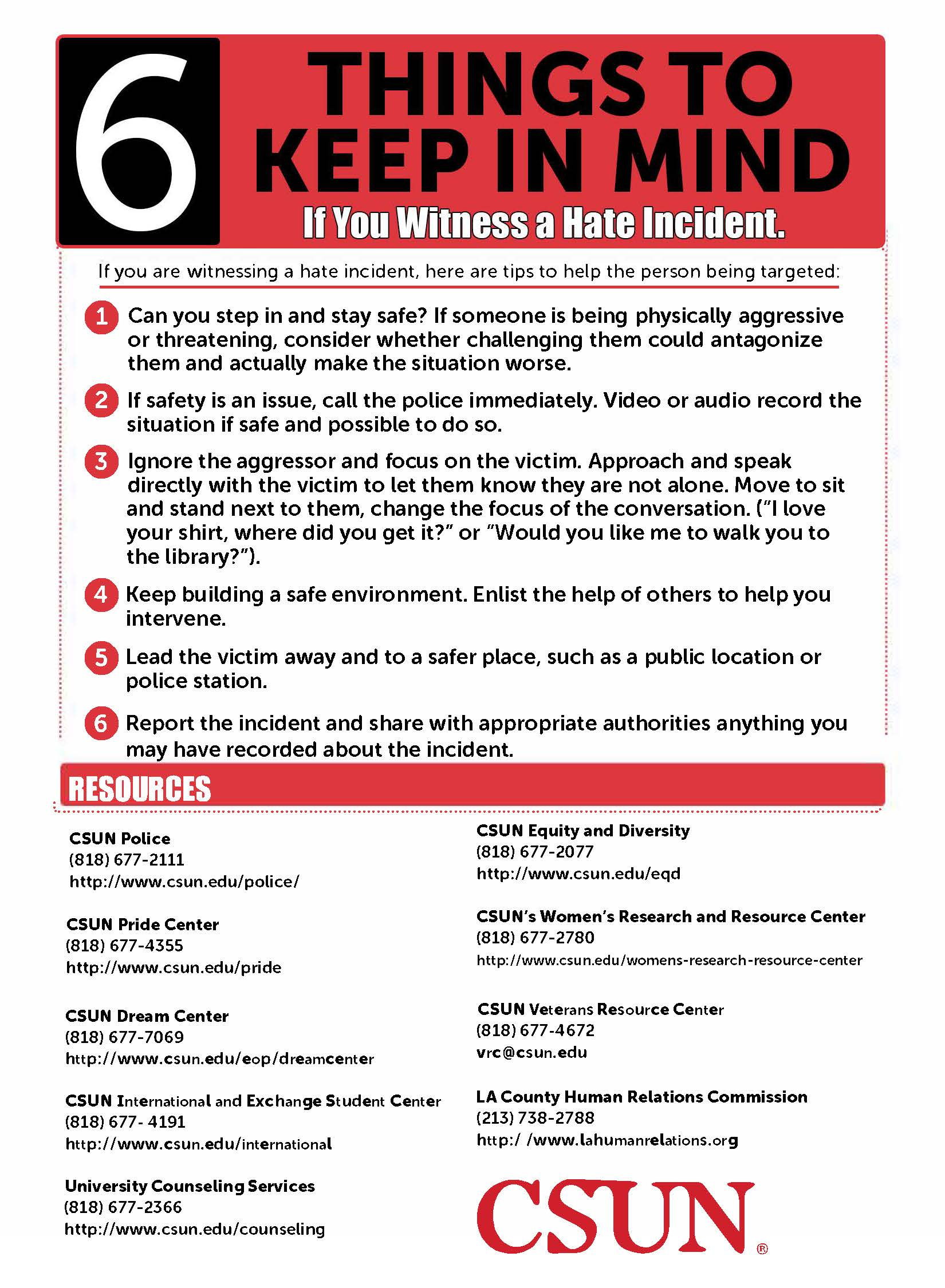 Color printing csun - What To Do If You Witness A Hate Incident
