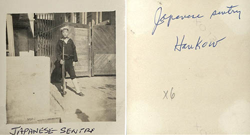 Front and back of photo from the Sager Collection