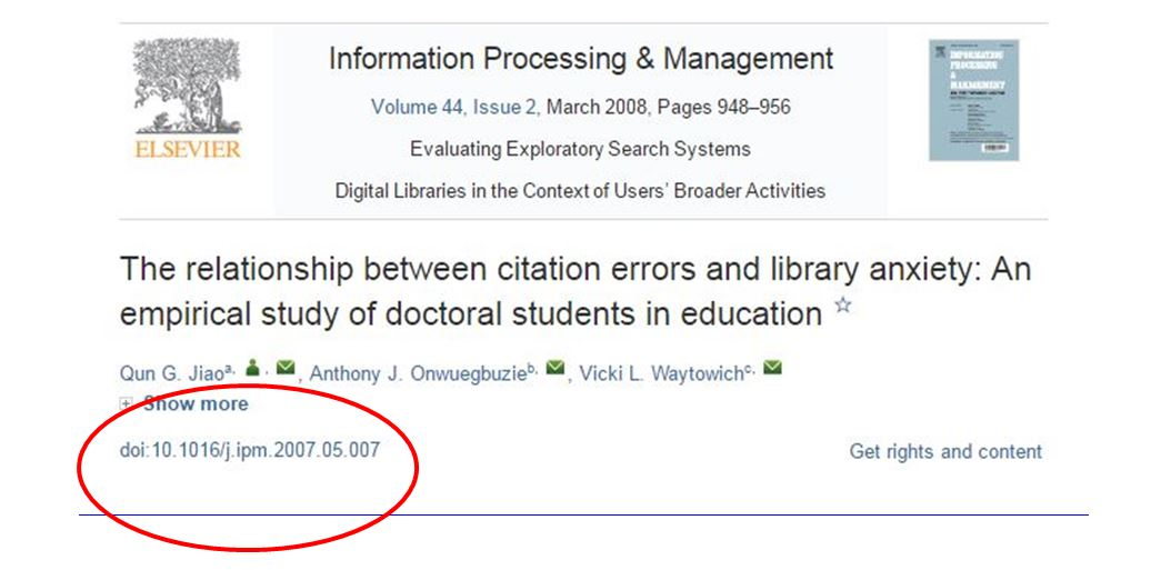 doi explained apa 6th edition referencing guide research subject