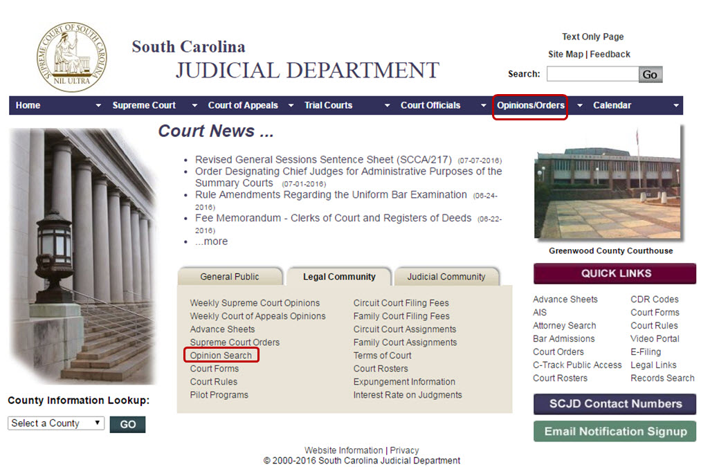 Sc judicial department case search
