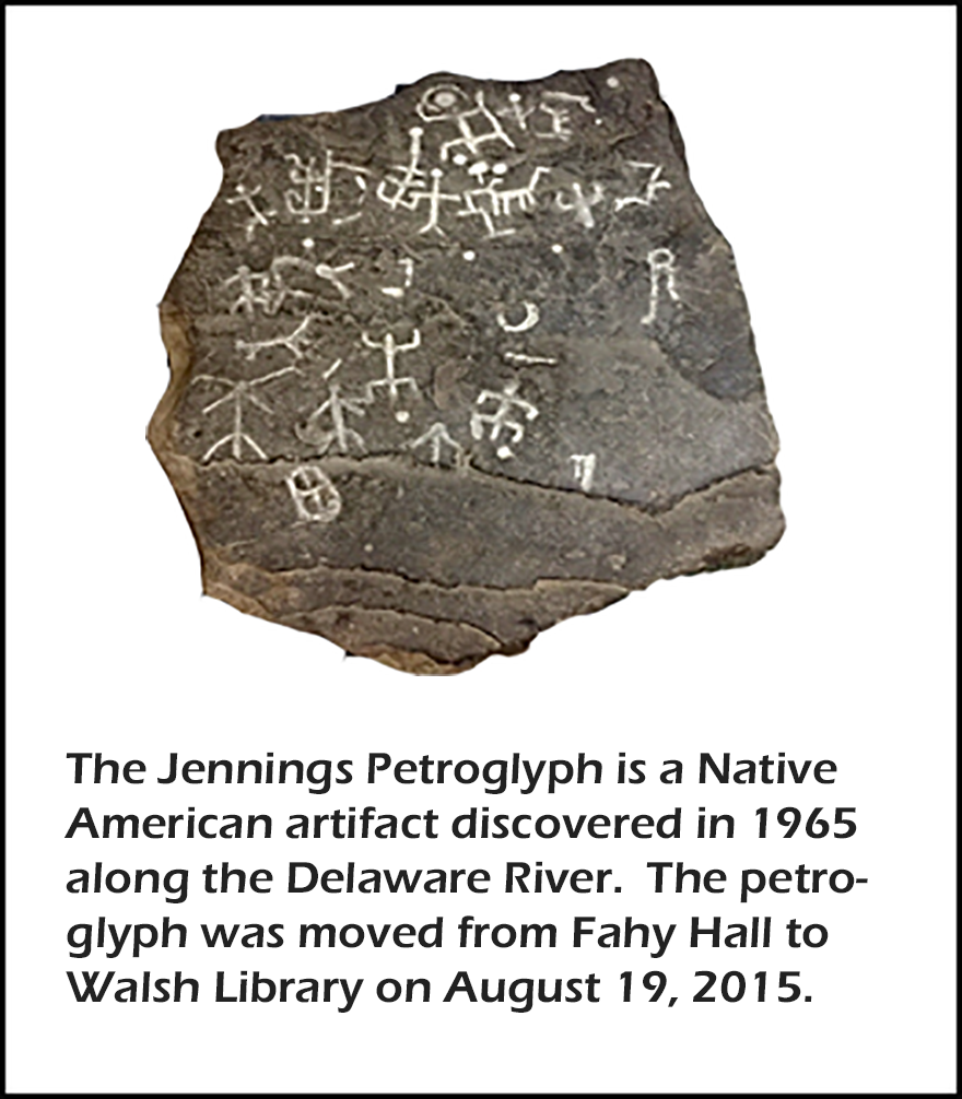 The Jennings Petroglyph.  Text states