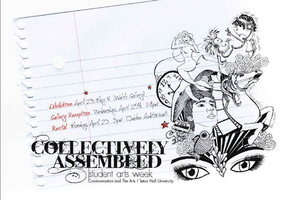 collectively assembled postcard