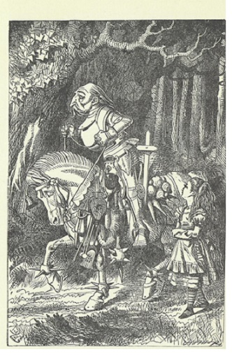 Tenniel's frontispiece for Through the looking-glass