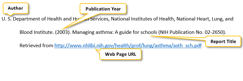 U period S period Department of Health and Human Services comma National Institutes of Health comma National Heart comma Lung comma and Blood Institute period parenthesis 2003 parenthesis period Managing asthma colon A guide for schools parenthesis NIH Publication No period 02-2650 parenthesis period Retrieved from http colon//www dot nhlibi dot nih dot gov/health/prof/lung/asthma/asth_sch dot pdf