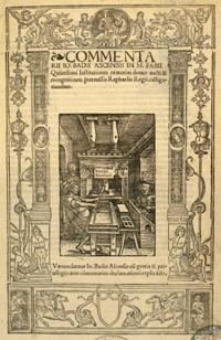 Representació d'un taller d'impressors