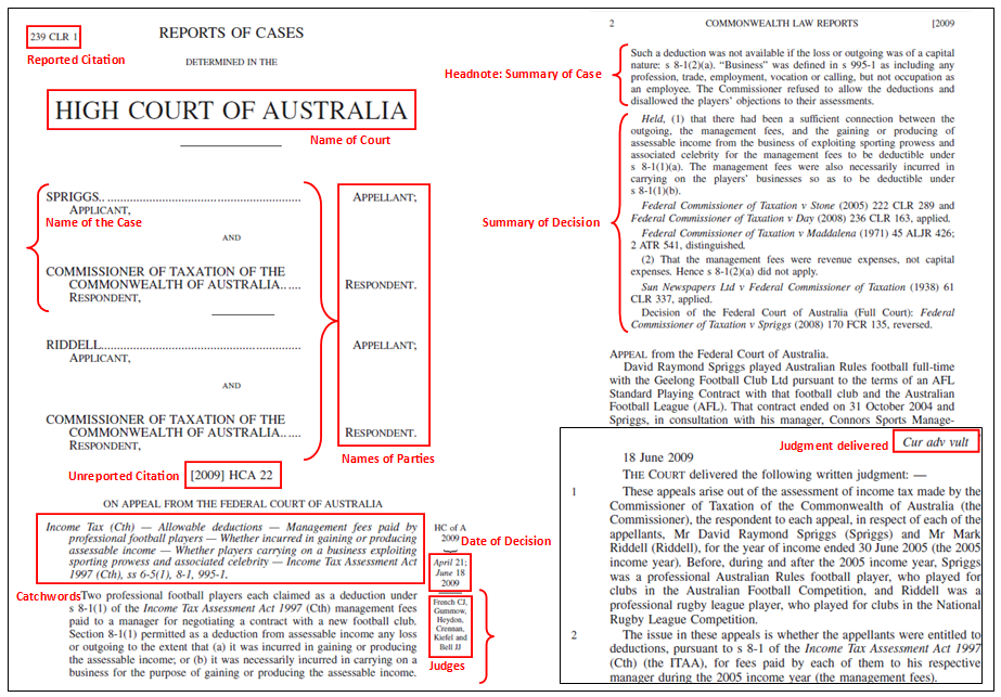 9 structure of a case case law lesson subject guides at murdoch