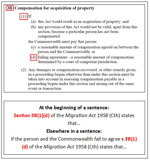 5: Act Subsections - Migration Agents Legal Citation Lesson