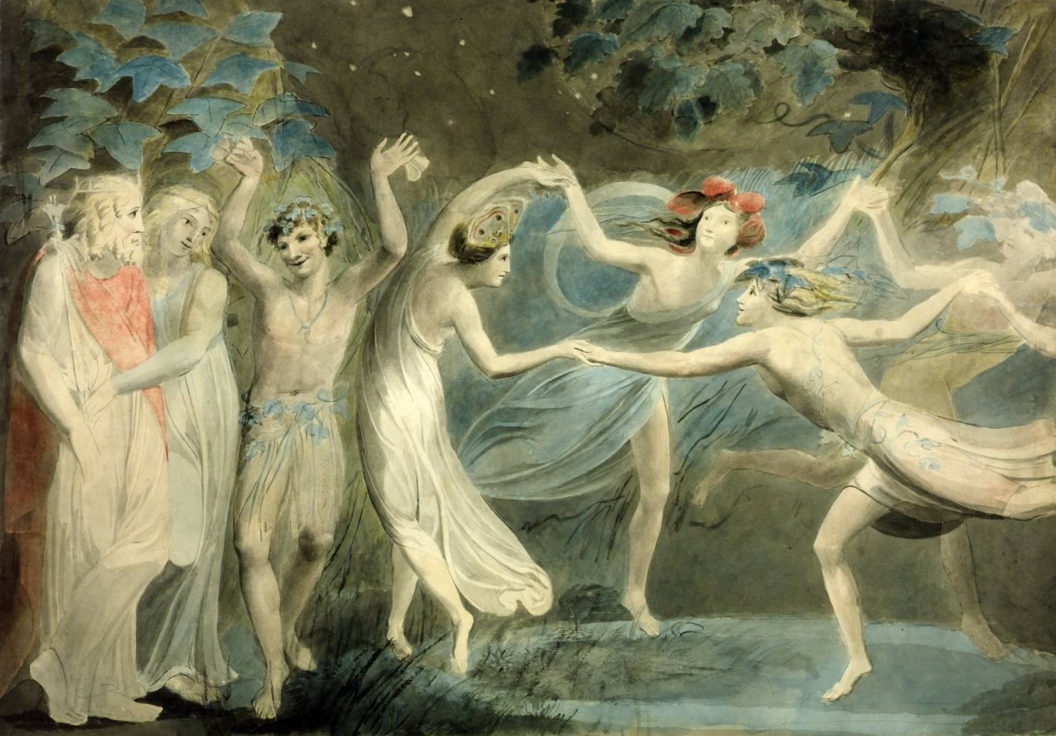 Oberon, Titania and Puck with Fairies Dancing (William Blake, 1786)