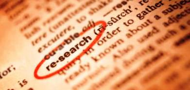 Photo of text with the word research highlighted