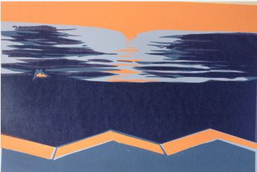 Screenprint by Maggie Pettigrew