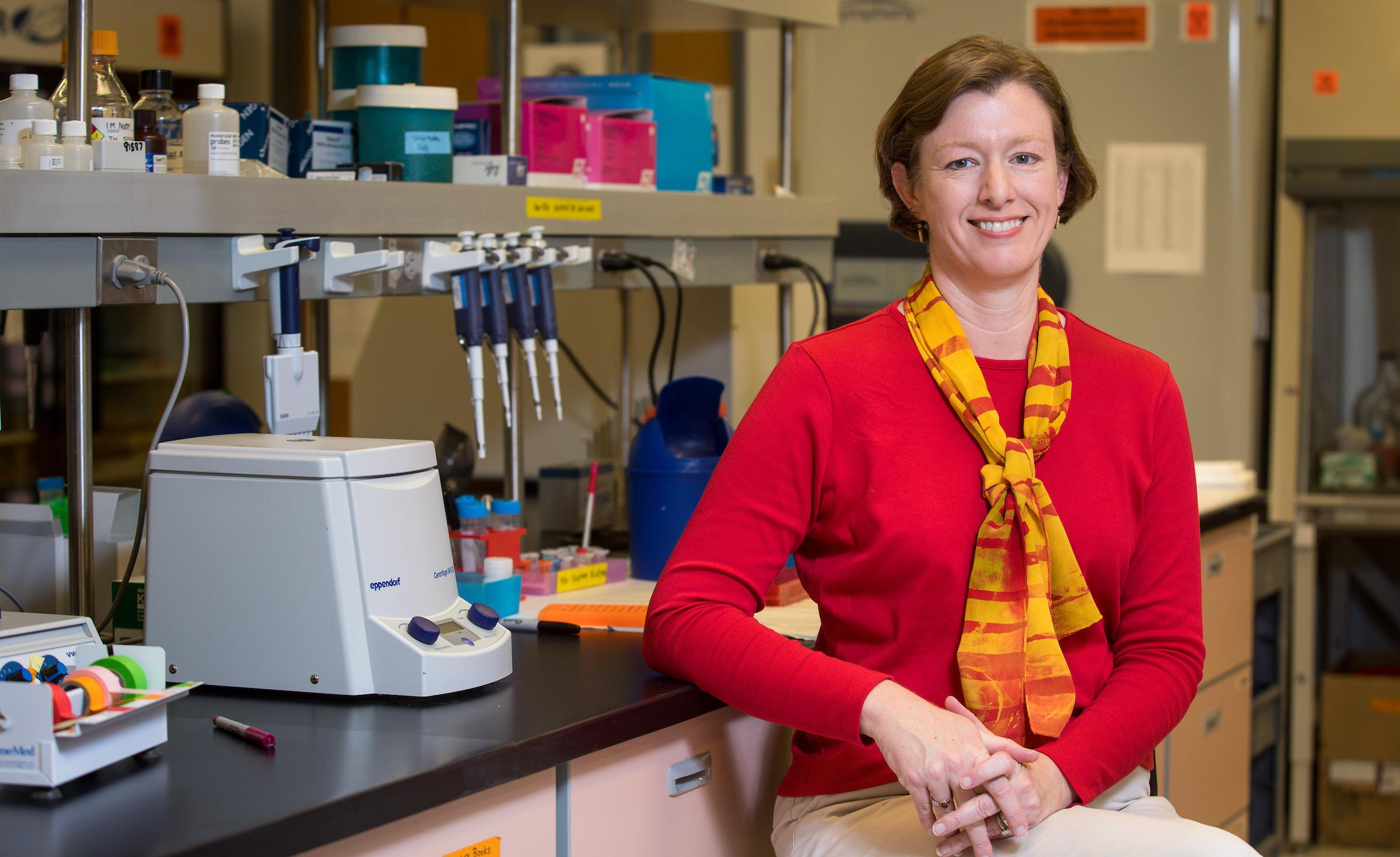 picture of Anne Stone in her lab