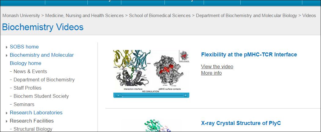 Biochemistry medicine library guides at monash university biochemistry videos department of biochemistry and molecular biology fandeluxe Choice Image