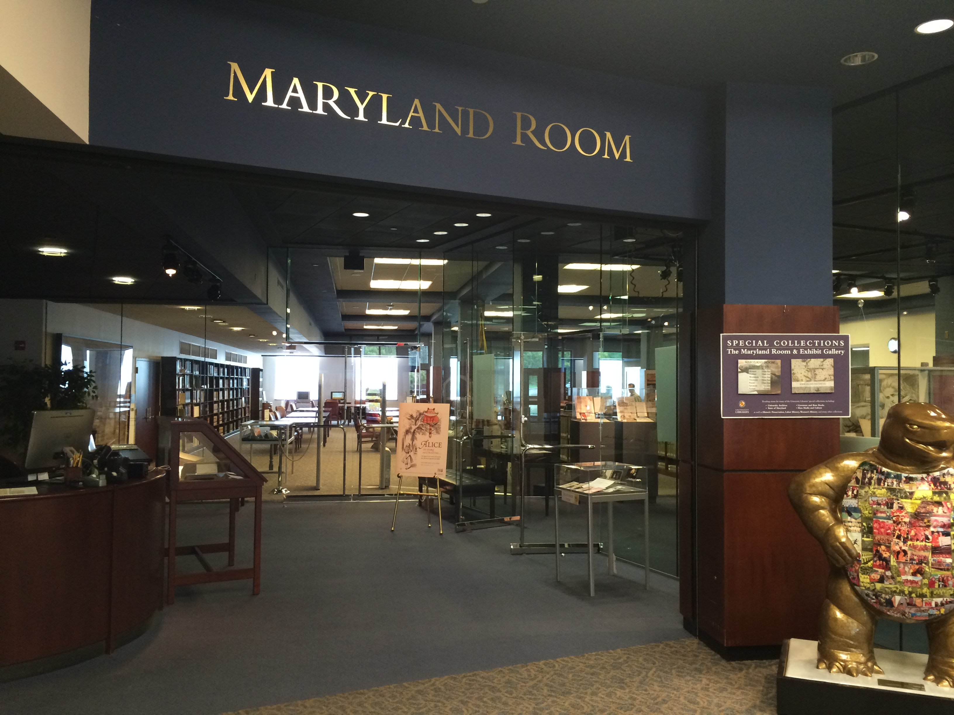 the Maryland Room, Hornbake Library North 1st floor