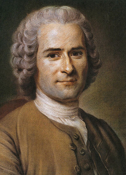 A rendering of Jean-Jacques Rousseau in early adulthood.